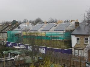 New houses being built on Railway Road, Teddington