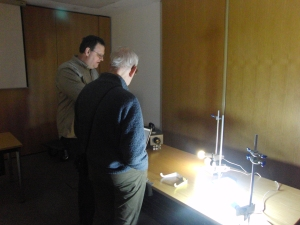 John Mountford capturing spectra at Protons for Breakfast