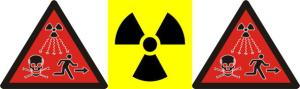 Warning symbols for radiation hazard