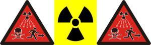 Warning symbols for radiation hazard