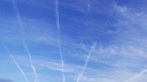 Condensation Trails - Contrails for short.