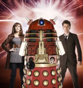 Dr Who and companion Donna - with a Dalek