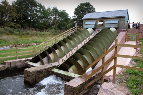 Romney weir is turning the screw on CO2. Two Archimedean Screw