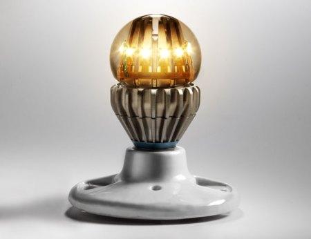 A liquid filled light bulb