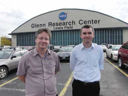 Michael and Jonathan at NASA Glenn