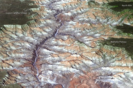 An image of the Grand Canyon showing clearly that what we see is merely the absence of the rock which was previously there.