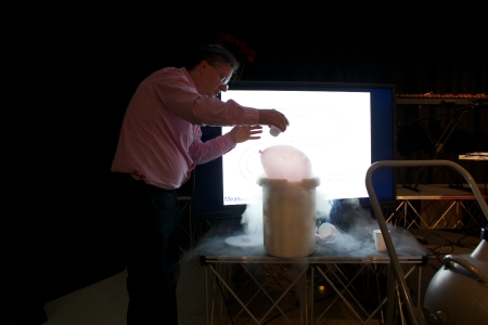 How cold is that? One of teh demonstrations which worked at TedX Teddington.
