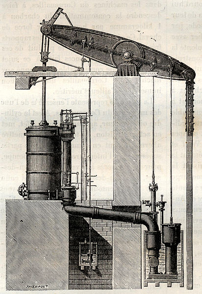 Trevithick pumping engine (Cornish system).