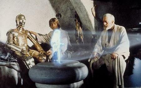Princess Leia Moving Holograph
