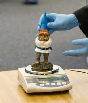 Weighing a Gnome