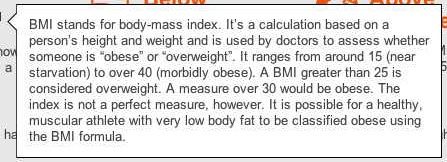 BBC GLobal Fat Scale