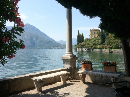 View from VIlla Monastero to Villa Cipressi in Varenna. This postcard view is one of a thousand which assaulted me at every turn.