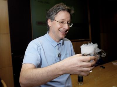 Michael de Podesta safely drinking 'potion'