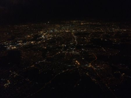 London at night from the air