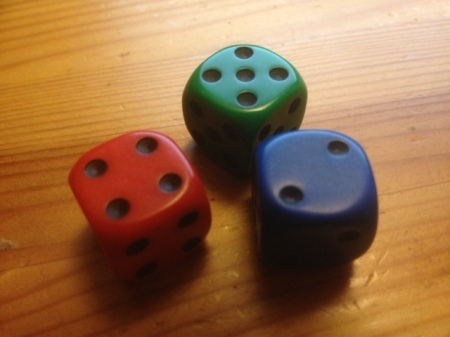 They look like ordinary dice, but they are not. In competition Red will systematically beat Blue, Blue will systematically beat Green, and the amazingly, Green will systematically beat Red. Is that really possible?