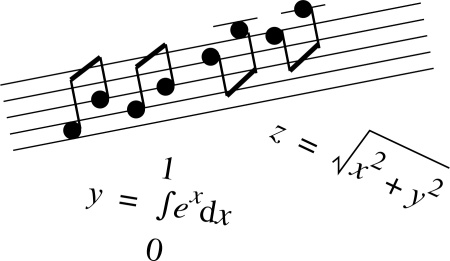 Music and Maths. If you understand the symbols you're in. If you don't, you're out. How does that make you feel?