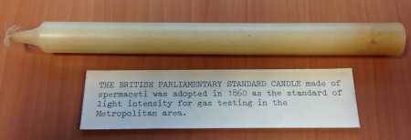 A parliamentary 'standard candle' - made from spermaceti - a substance found only in the heads of sperm whales.