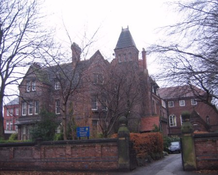 The entrance to Xaverian College, Manchester.