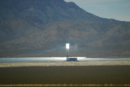 One of the three solar concentrators from the Ivanpah Solar Thermal Power Plant.