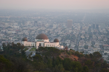 The Griffiths Observatory looks over LA like a modern day secular temple to the stars.