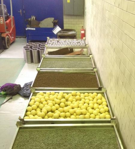 Pallets of 'radioactive' waste