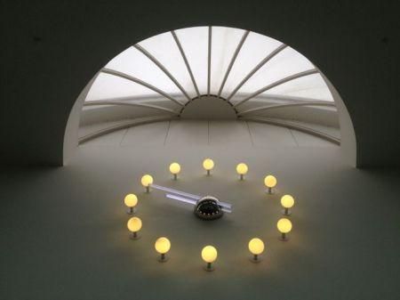 The NPL foyer clock