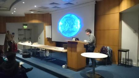 The last few moments of the 20th presentation of Protons for BReakfast. (Picture by Lindsay Chapman)