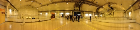 Panoramic picture of the Low-level (on the left) and intermediate level (on the right) wast repository.