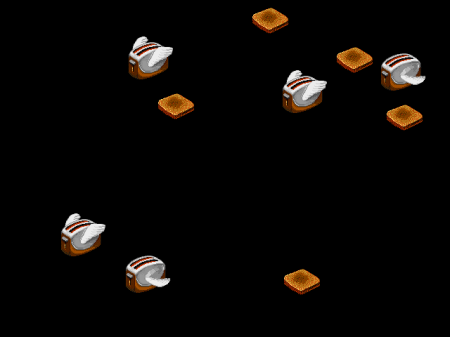 """""""After Dark Flying Toasters"""" by Source. Licensed under Fair use via Wikipedia -"""
