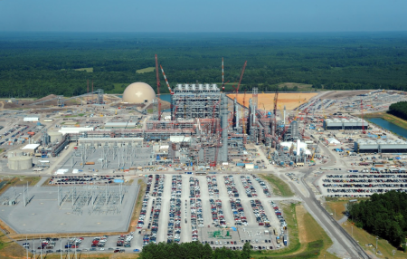The Kemper Coal Plant under construction in Mississippi USA. This is the most expensive coal plant ever construction and will release more than 10 times as much CO2 as conventional coal fired station would .
