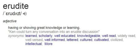 Definition of Erudite