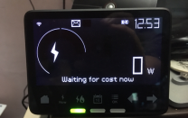 The 'smart meter' shows we are taking no power from the grid.