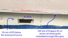 Detail of the EWI near the ground