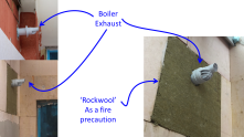 Details around the extended boiler exhaust
